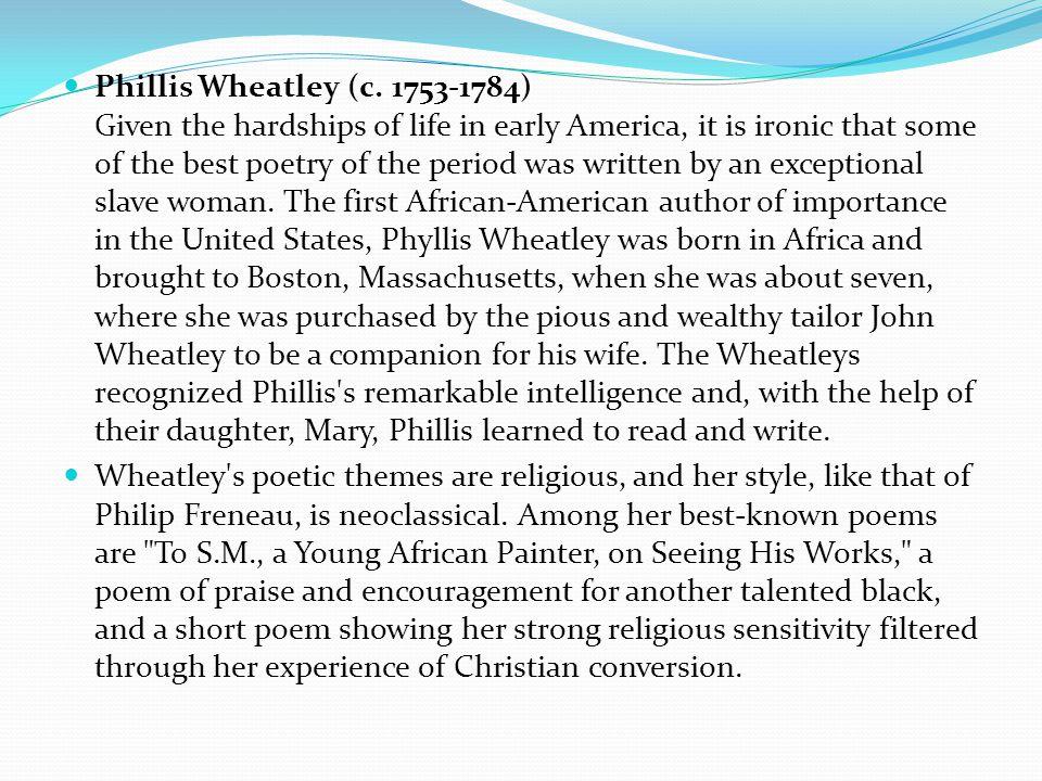 Phillis Wheatley (c.