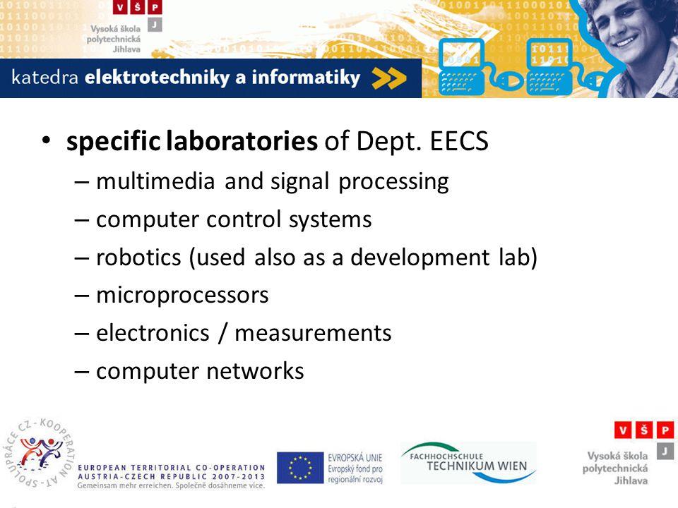 Katedra elektrotechniky a informatiky specific laboratories of Dept.