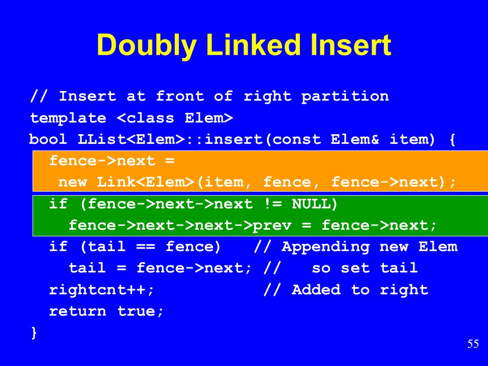 54 Doubly Linked Insert