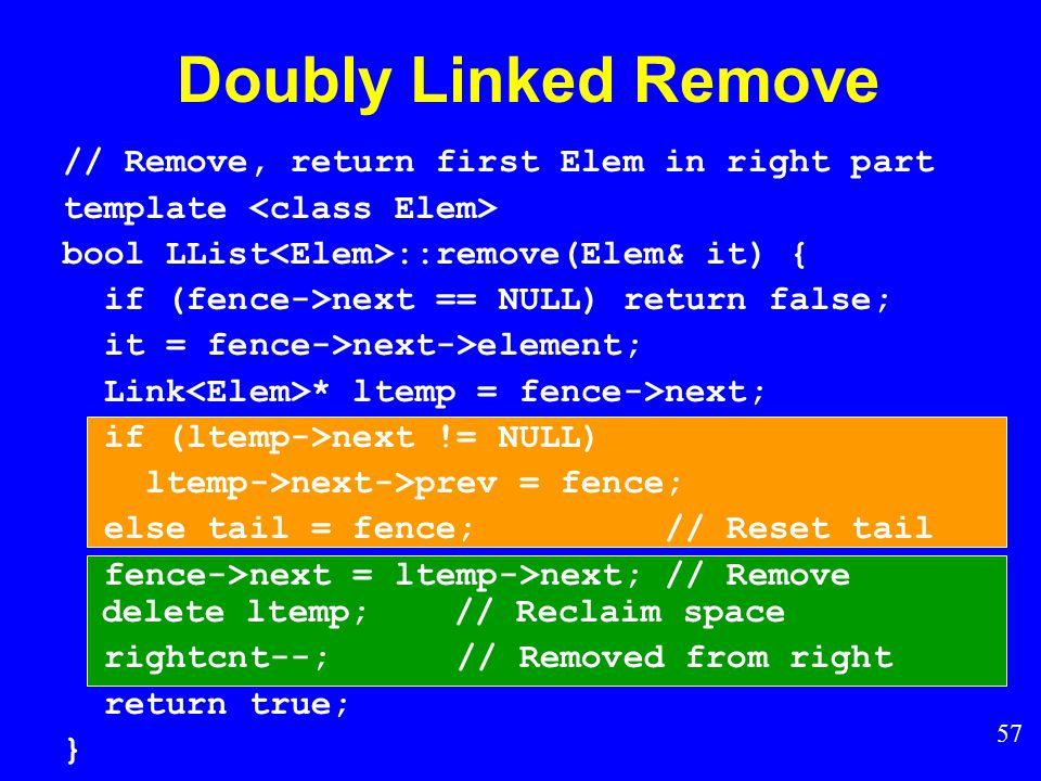 56 Doubly Linked Remove
