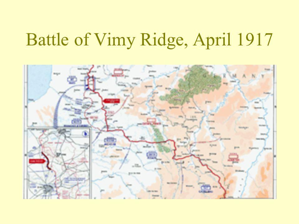 Battle of Vimy Ridge, April 1917