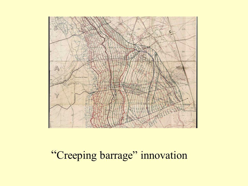 Creeping barrage innovation