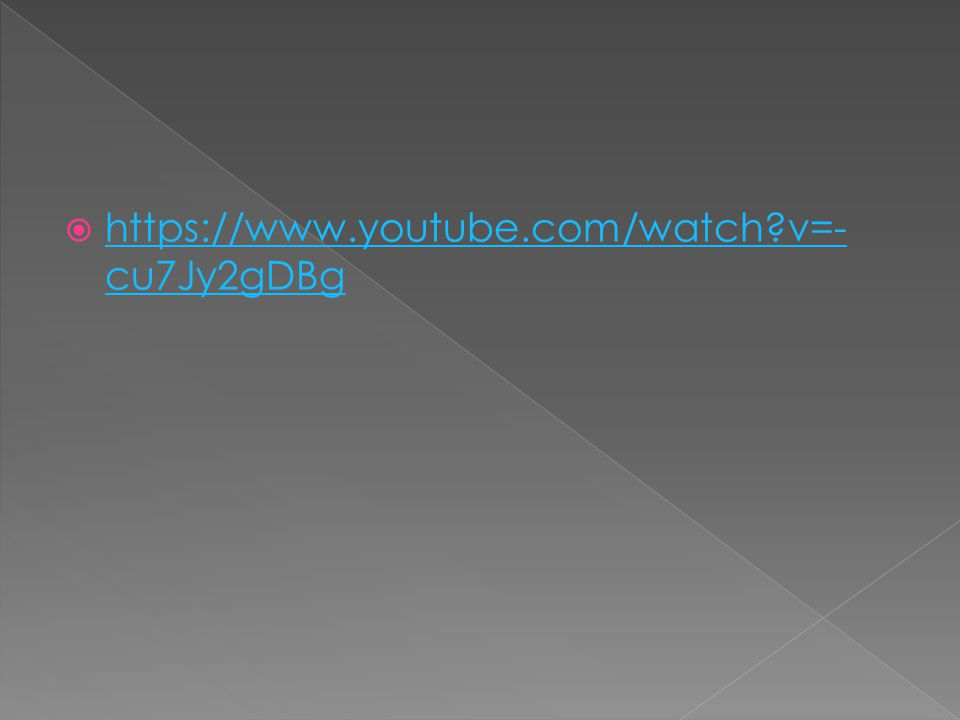  https://www.youtube.com/watch?v=- cu7Jy2gDBg https://www.youtube.com/watch?v=- cu7Jy2gDBg