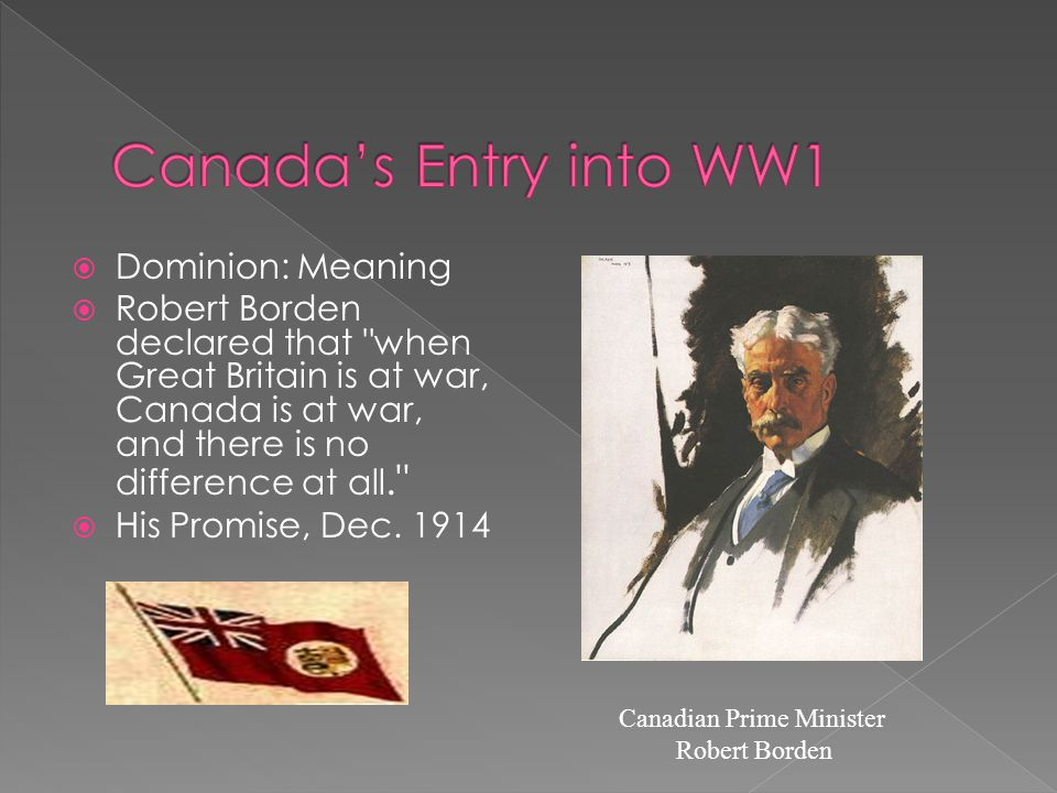  Dominion: Meaning  Robert Borden declared that