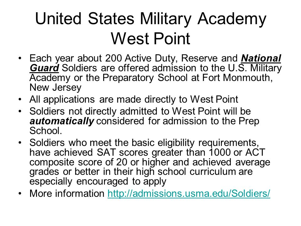 Qualifications for Enlistment Be at least 17 years old Be a high school junior or senior Pass medical screening physical Pass a physical fitness screening Qualify for an Army National Guard unit vacancy