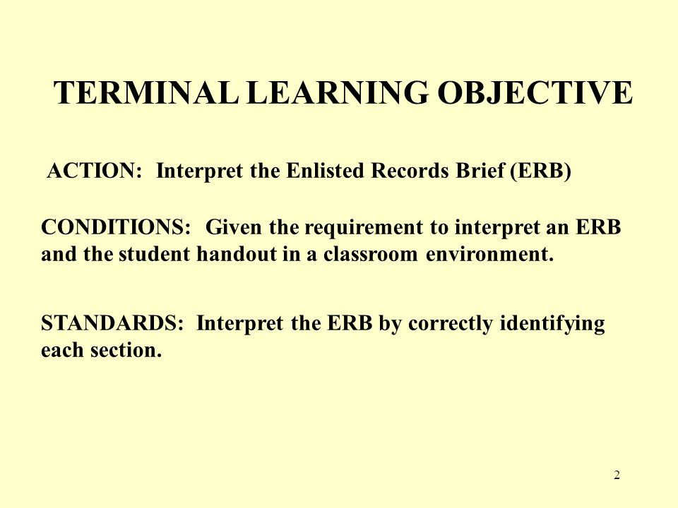 3 Enlisted Records Brief Contains personal information, qualification skills, training, and assignment history.