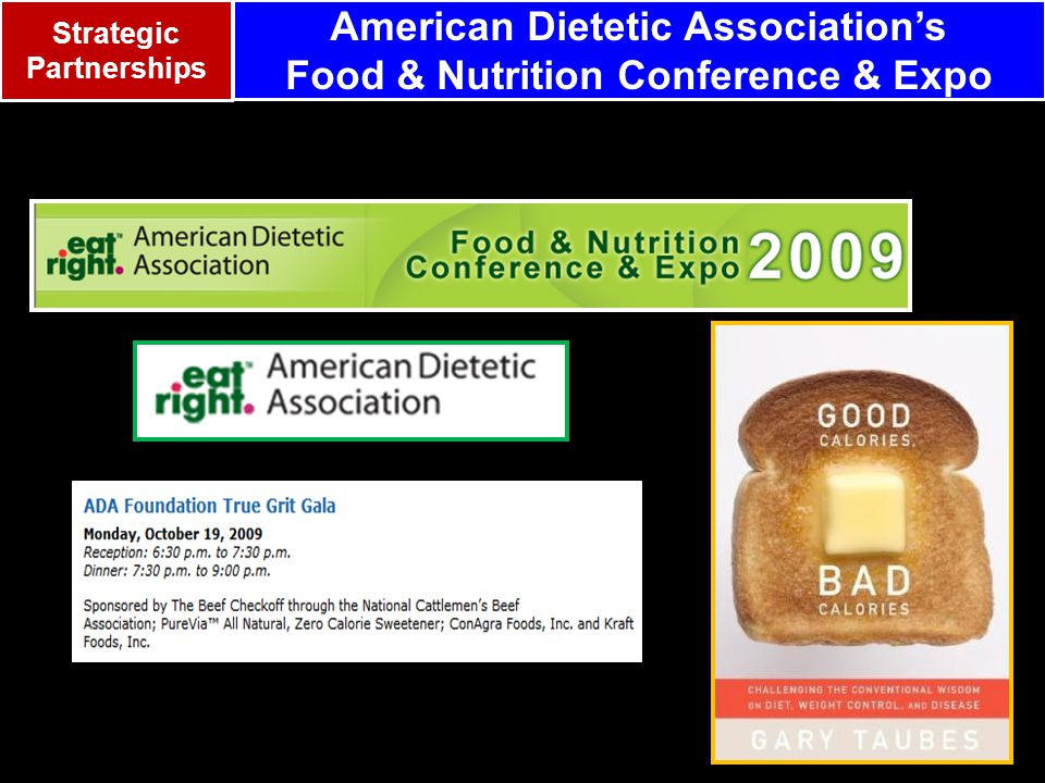 American Dietetic Association's Food & Nutrition Conference & Expo Strategic Partnerships