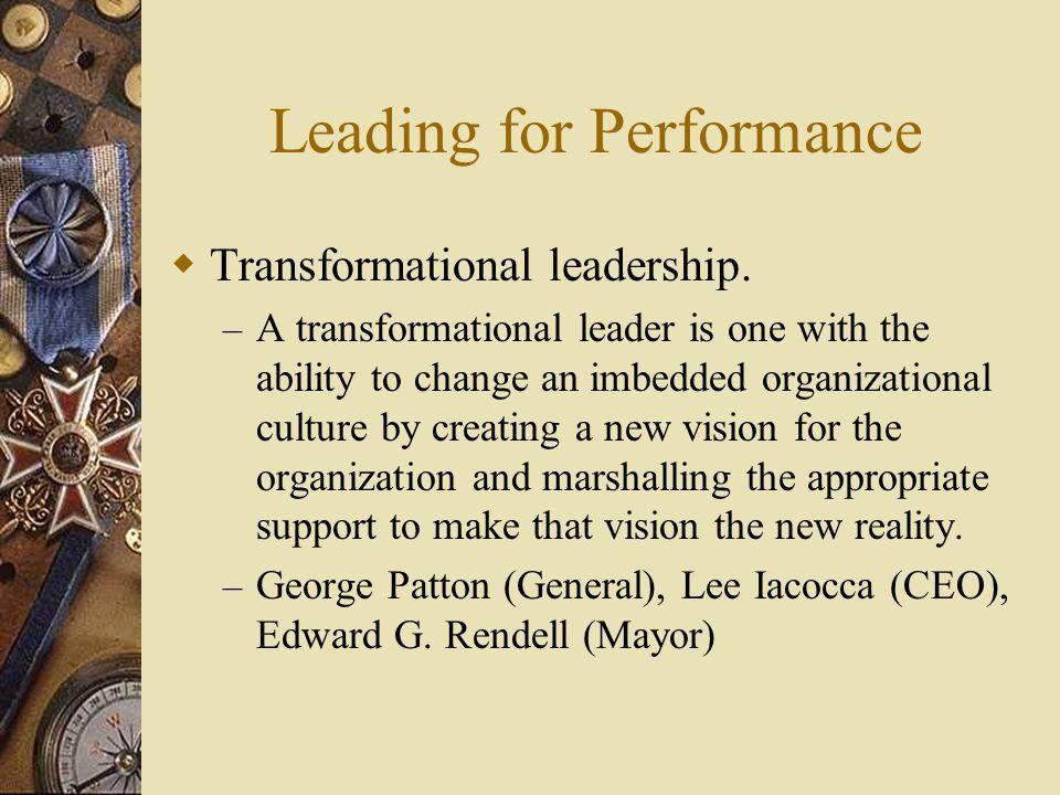  Transformational leadership.