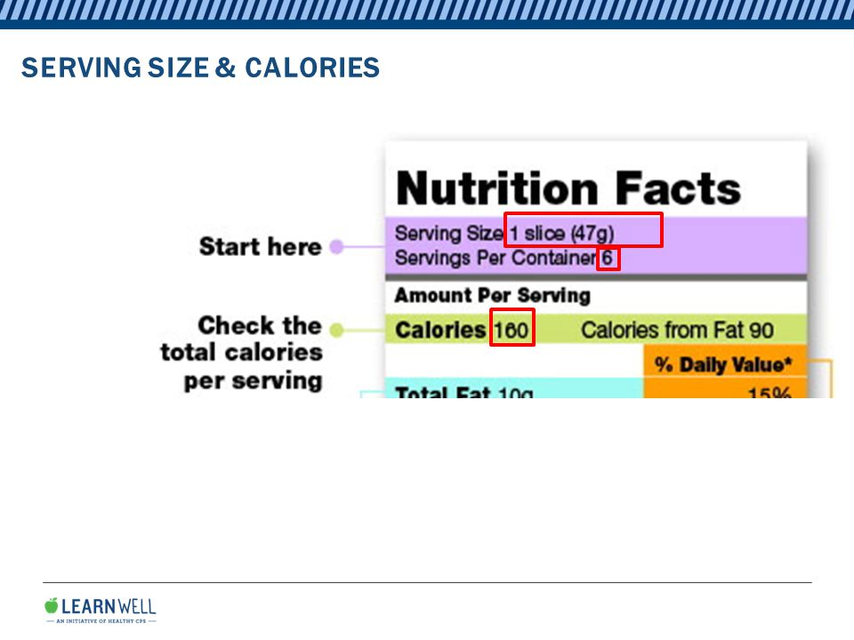 SERVING SIZE & CALORIES
