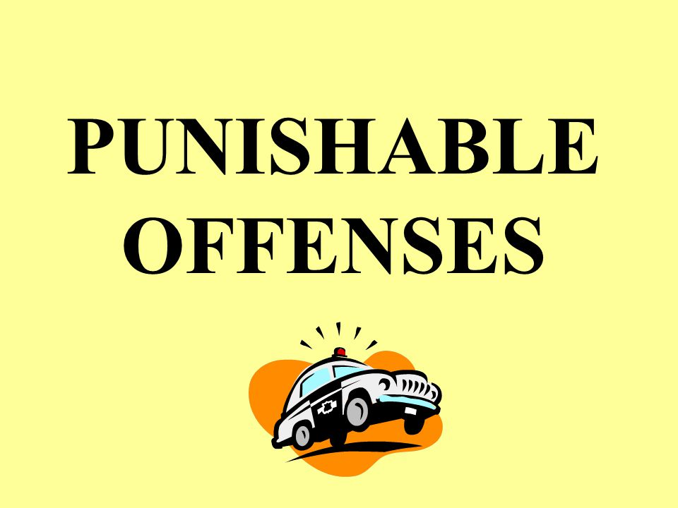 OFFENSES PUNISHABLE MCM, Part V Theory: NJP is for minor offenses Major: punished by DD or >1 year confinement Minor: everything else Reality: CO has VERY BROAD discretion based on the facts & situation