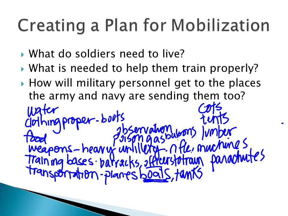  What do soldiers need to live. What is needed to help them train properly.