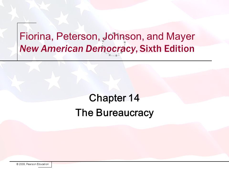 Fiorina, Peterson, Johnson, and Mayer New American Democracy, Sixth Edition Chapter 14 The Bureaucracy © 2009, Pearson Education