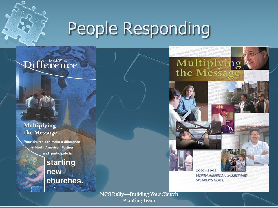 NCS Rally—Building Your Church Planting Team People Responding