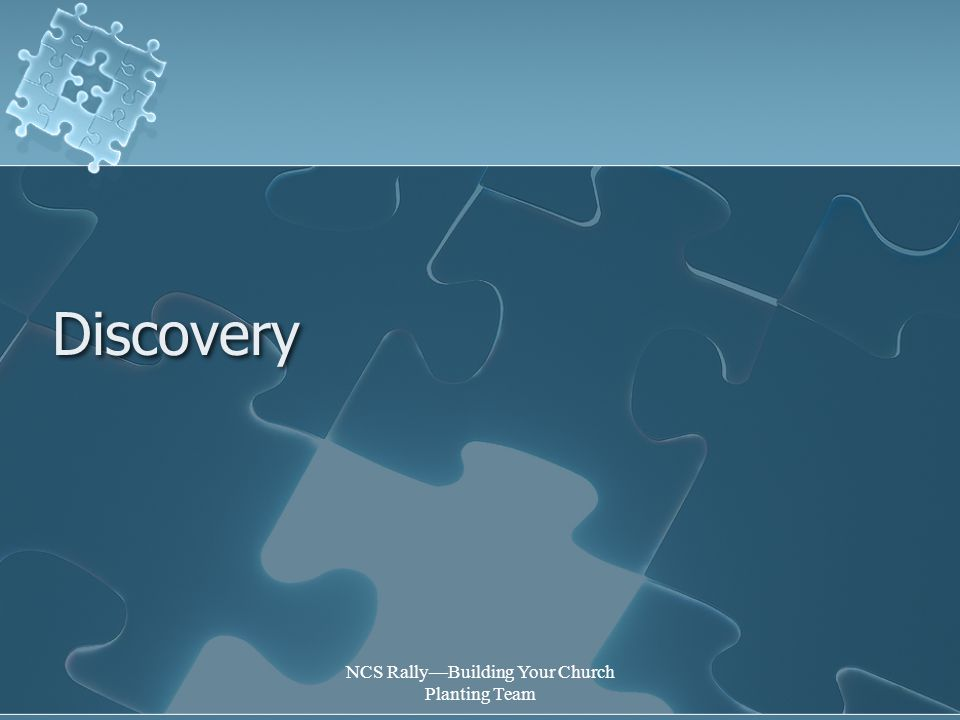 NCS Rally—Building Your Church Planting Team Discovery