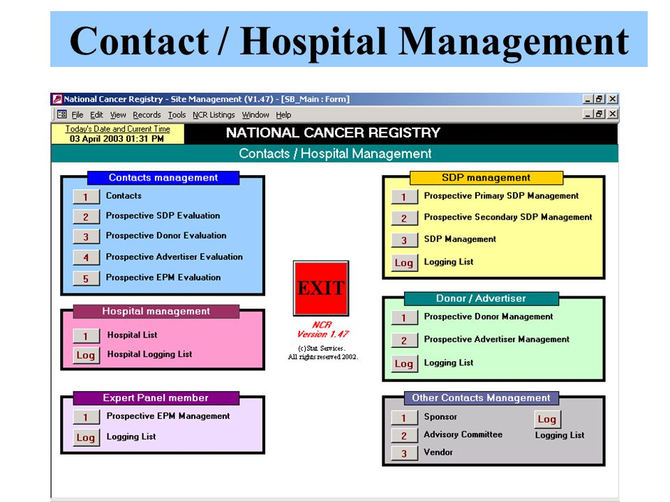 Contact / Hospital Management