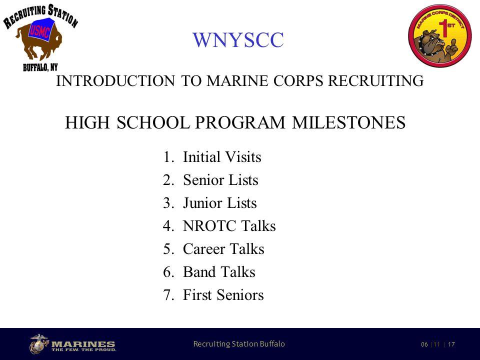 9 Recruiting Station Buffalo 06 |11 | 17 WNYSCC INTRODUCTION TO MARINE CORPS RECRUITING 1.