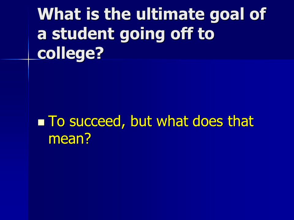 What areas must any college student succeed in.