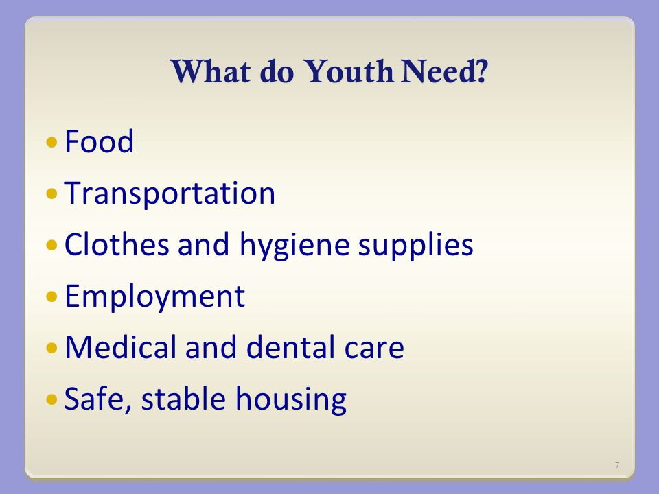 What do Youth Need.