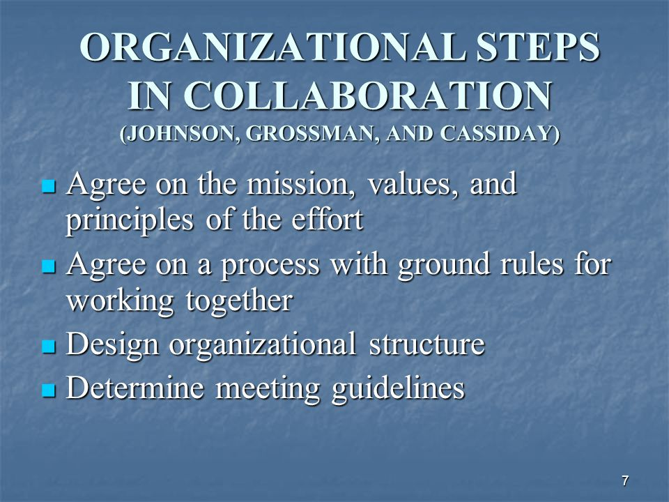 18 MEMBERS SHARE A STAKE IN BOTH PROCESSES AND OUTCOME Members of a collaborative group feel ownership of both the way the group works and the results or product of its work