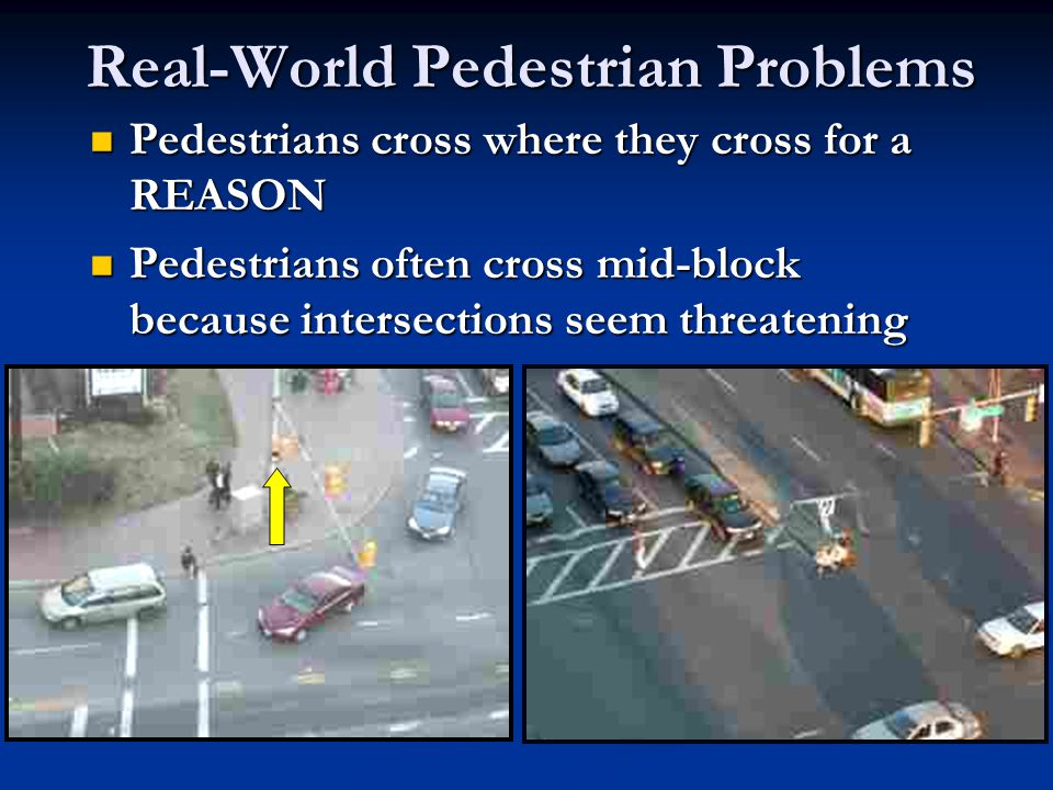 Challenging Suburban Environments Many suburban roads in the state have high pedestrian volumes, high vehicle speeds, and long distances between signalized intersections.