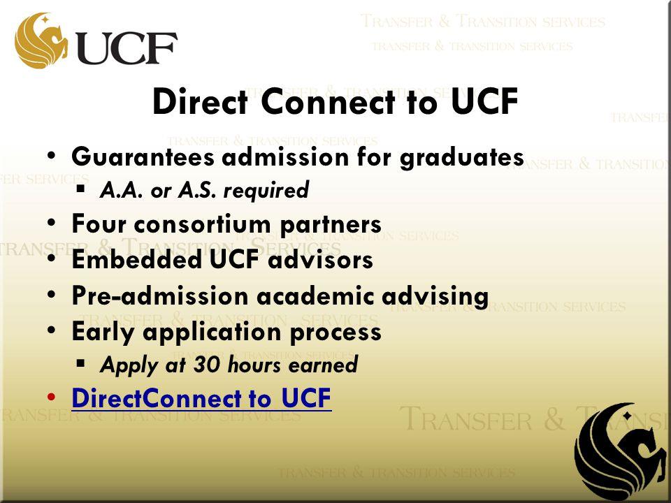 Guarantees admission for graduates  A.A. or A.S.