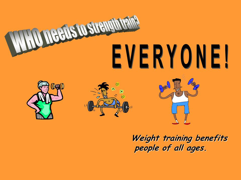 Weight training has both HEALTH and COSMETIC benefits.