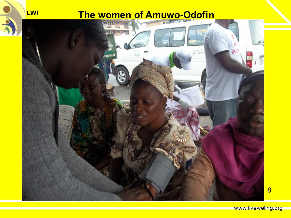 LWI LiveWell Initiative LWI LiveWell Initiative 8 www.livewellng.org The women of Amuwo-Odofin