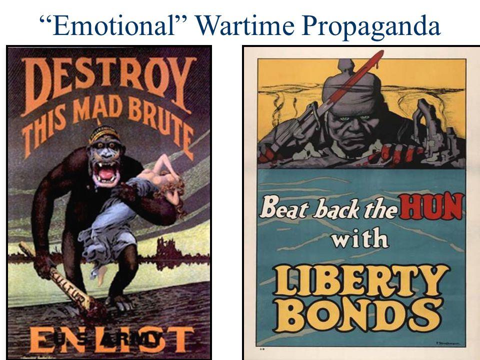 """Emotional"" Wartime Propaganda"
