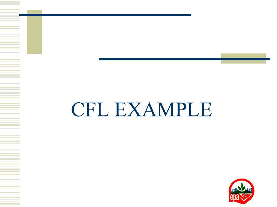 CFL EXAMPLE