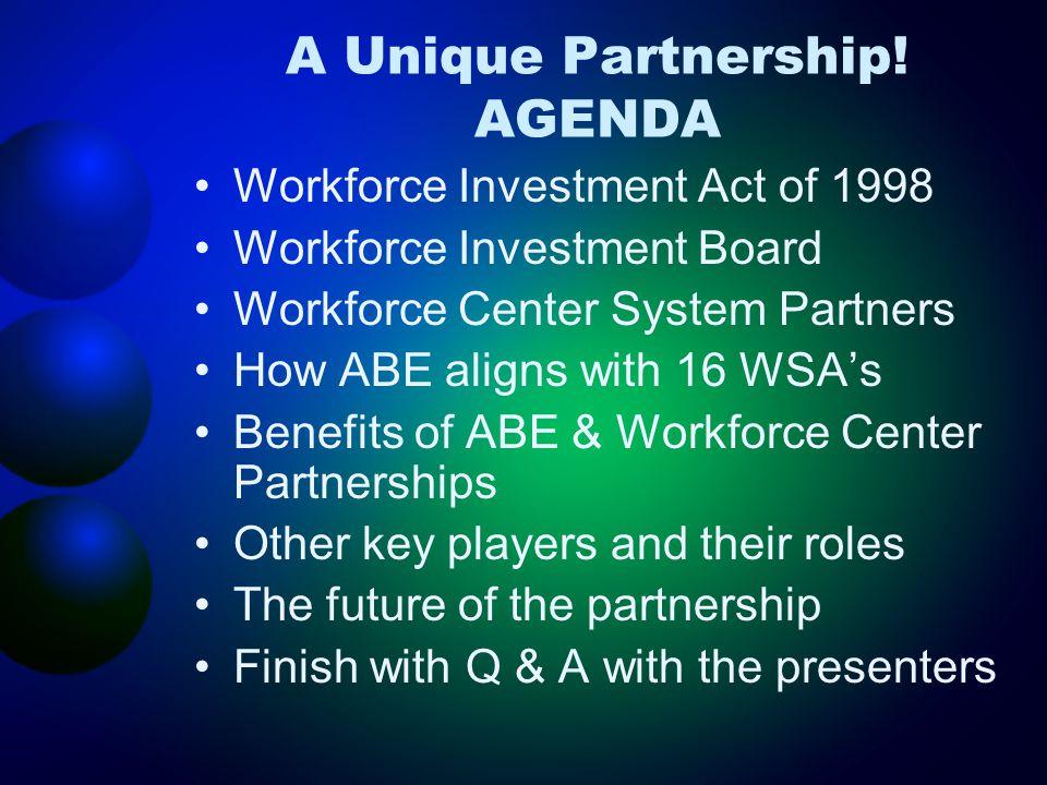 A Unique Partnership.