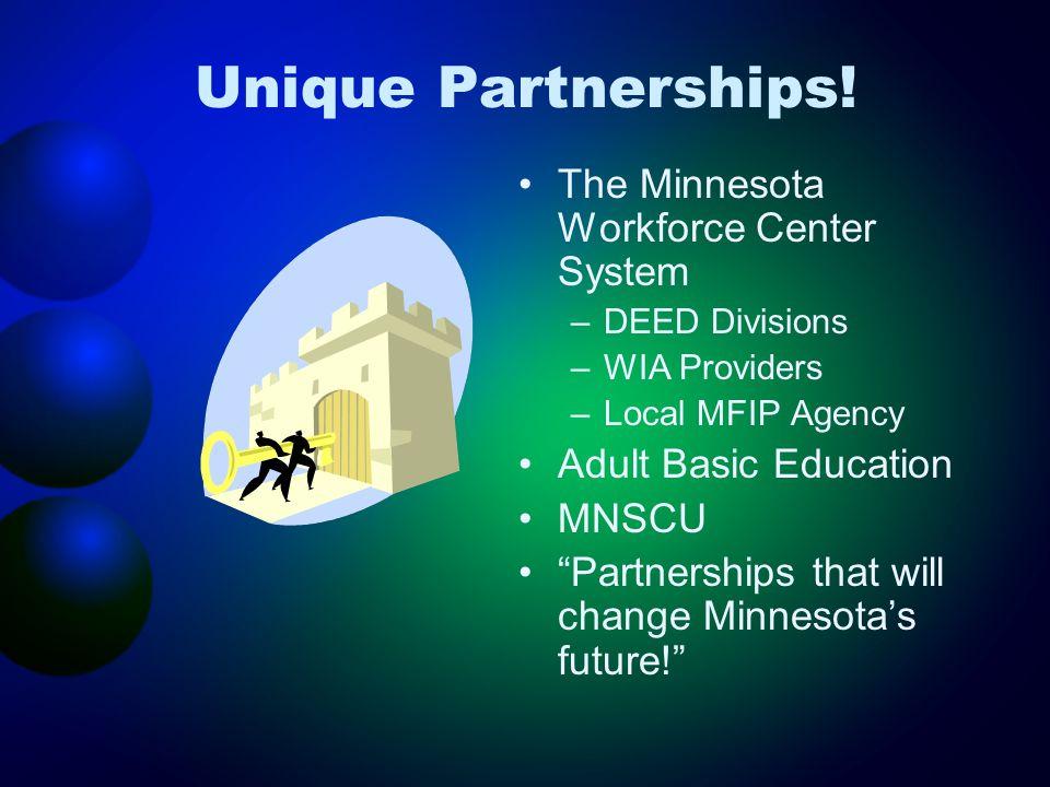 Unique Partnerships.