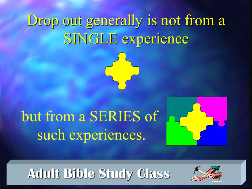 Adult Bible Study Class Adult Bible Study Class The Crisis of Crisis Active Crisis Growth Drop Out