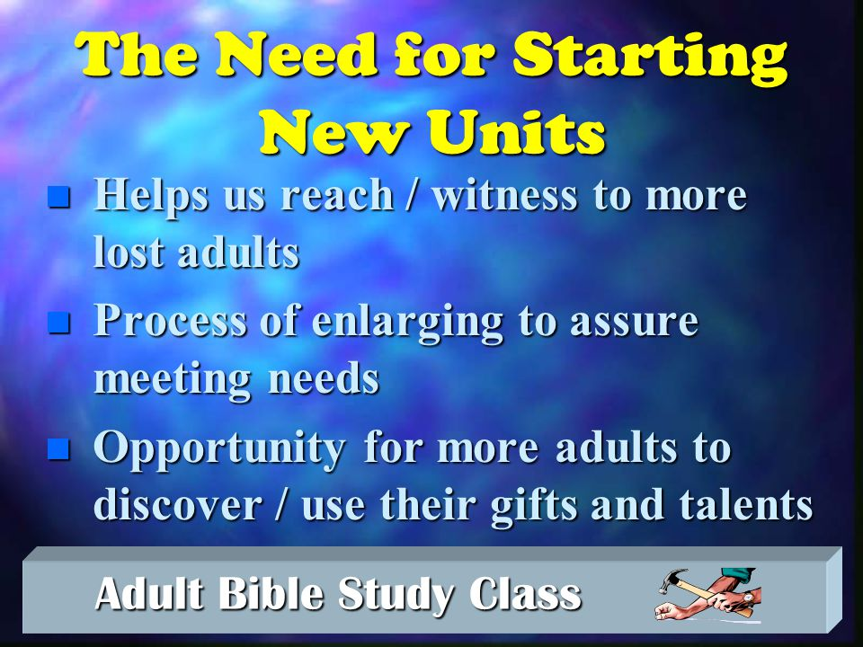 Adult Bible Study Class Adult Bible Study Class He prunes so it will be even more fruitful… - John 15:2