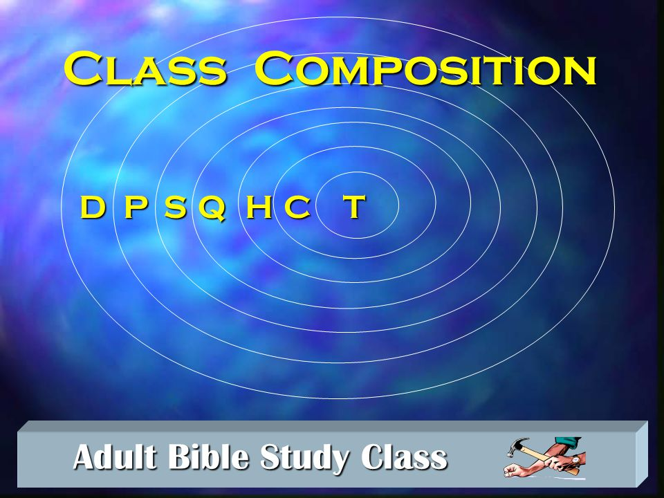 Adult Bible Study Class Adult Bible Study Class Creating New Classes n The Paper Class n The Divided Class n The Dropout Class n The Seed Class