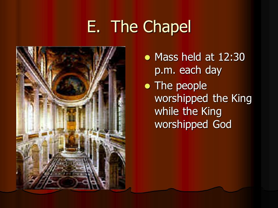 E. The Chapel Mass held at 12:30 p.m. each day Mass held at 12:30 p.m.