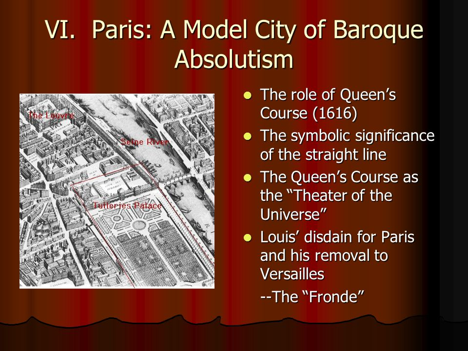 VI. Paris: A Model City of Baroque Absolutism The role of Queen's Course (1616) The role of Queen's Course (1616) The symbolic significance of the str
