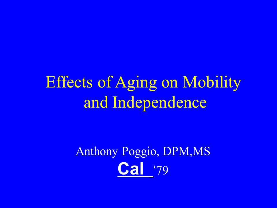 Affects of Aging Muscle Tendon Bone Skin Neurology Vascular Psych