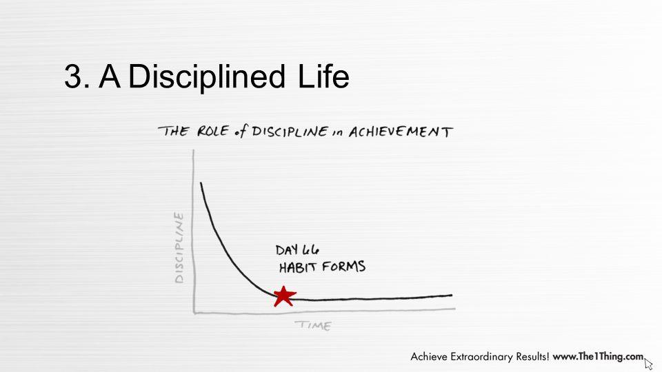 3. A Disciplined Life