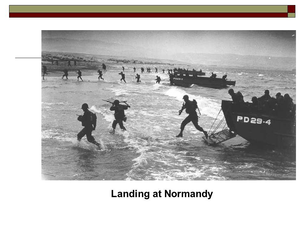 Landing at Normandy