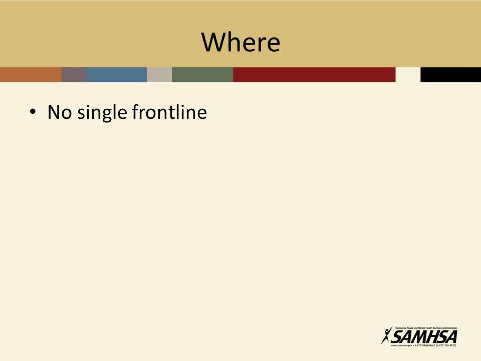 Where No single frontline