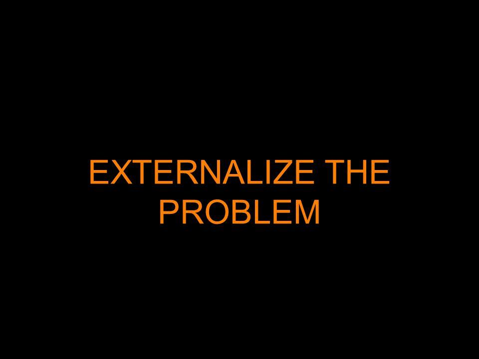 EXTERNALIZE THE PROBLEM