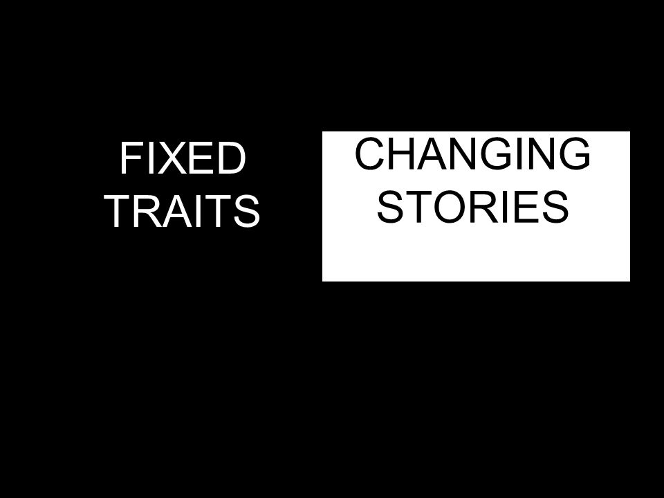 CHANGING STORIES FIXED TRAITS