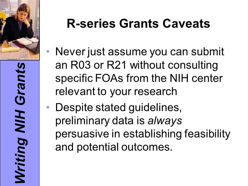 Writing NIH Grants Write Clearly.