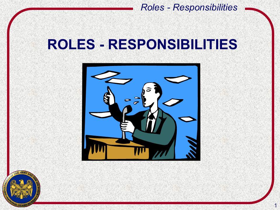 1 Roles - Responsibilities ROLES - RESPONSIBILITIES