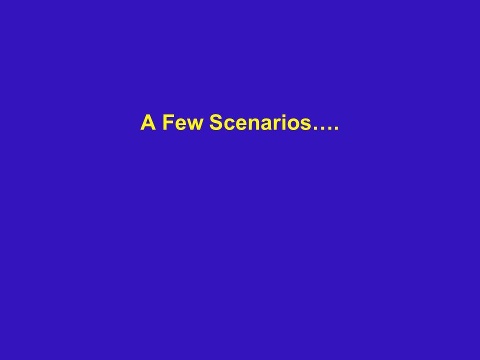 A Few Scenarios….