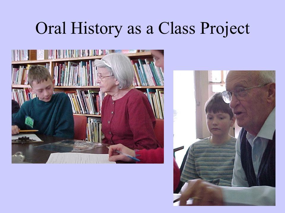 Oral History as a Class Project