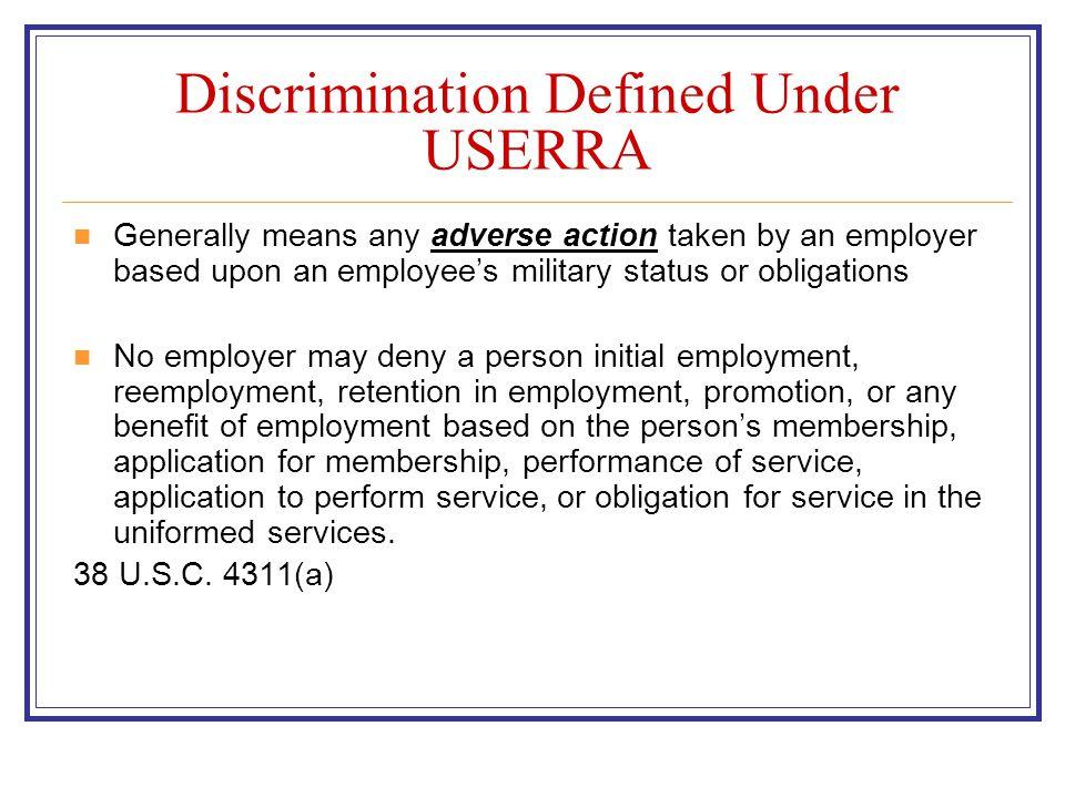 USERRA Contact Information Robert M.