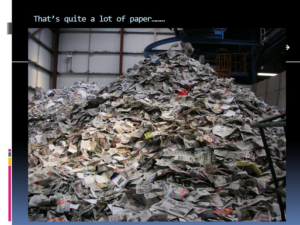 That's quite a lot of paper………