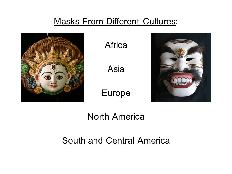Masks From Different Cultures: Africa Asia Europe North America South and Central America