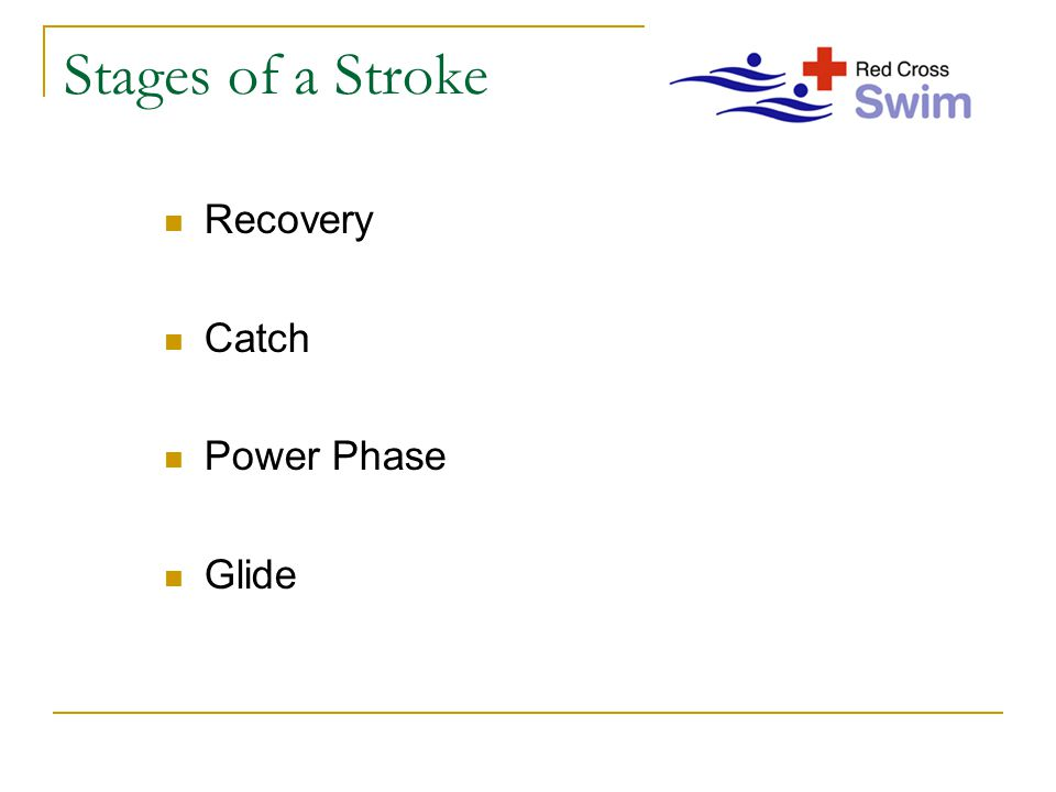Stages of a Stroke Recovery Catch Power Phase Glide